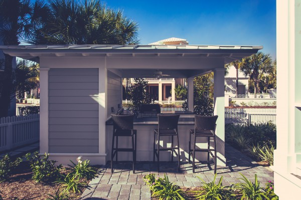 Custom Home Carillon Beach FL with Outdoor Kitchen